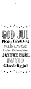 merry christmas - olika språk