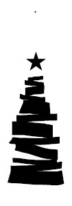 julgran - svart