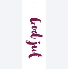 god jul - röd calligrafi