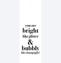 Glitter & bubbly like champagne....