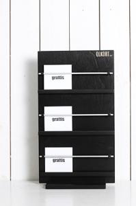 kortställ - till kvadratiska kort - svart