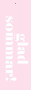 Glad sommar - rosa
