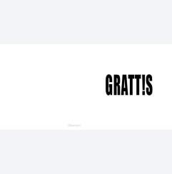 GRATT!S - svart