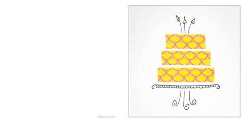 Tårta - gul