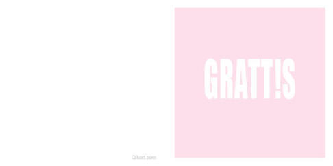 Grattis - rosa