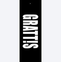 grattis - svartvit