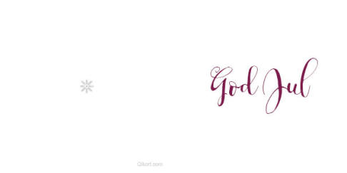 God Jul - calligrafi