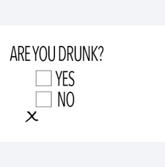 Are you drunk...