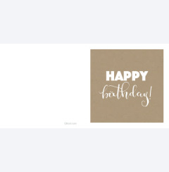 Happy birthday - kartong