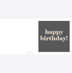 Happy Birthday beige