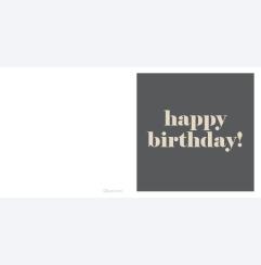 Happy Birthday antracit
