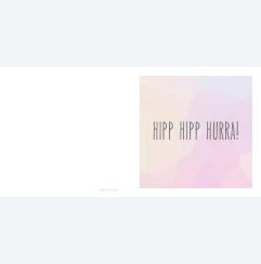 Hipp Hipp Hurra - rosa moln
