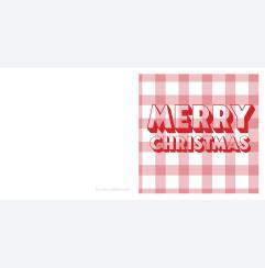 Merry Christmas rödrutig